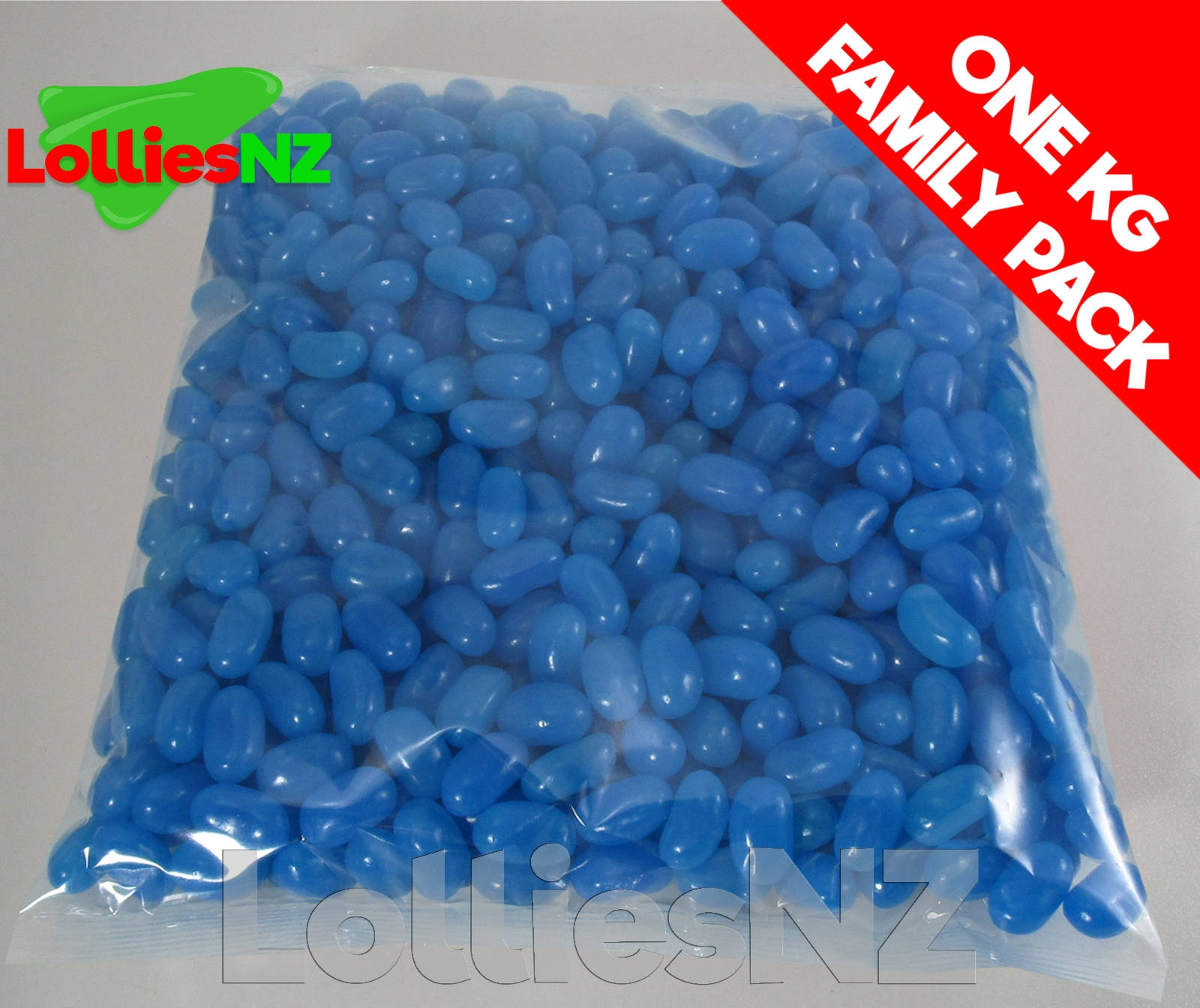 Blue Jelly Beans - 1kg