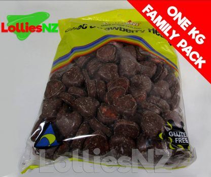 Choc Strawberry Hearts - 1kg