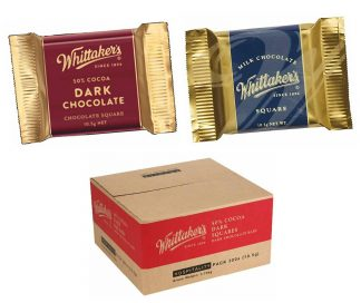 Whittaker's Chocolate Squares - Bulk 300 x 10.5gm