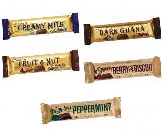 Whittaker's Chocolate Chunk Bars - Bulk 36 x 50gm