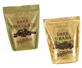 Whittaker's Dark Chocolate Pips 2kg