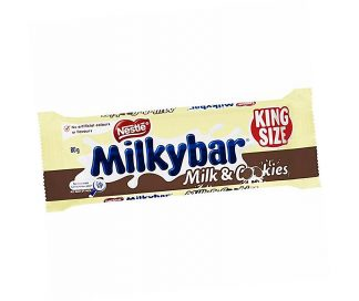 Milky Bar Milk & Cookies King Size - Bulk 24 x 80gm