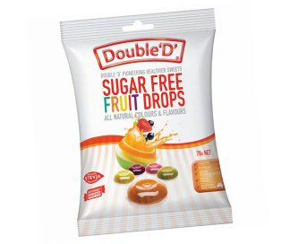 Double D Sugar-Free Fruit Drops Mini packs 3 x 70gm