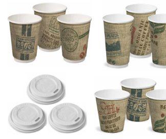 Castaway Hot Cups & Lids 280ml/355ml/460ml