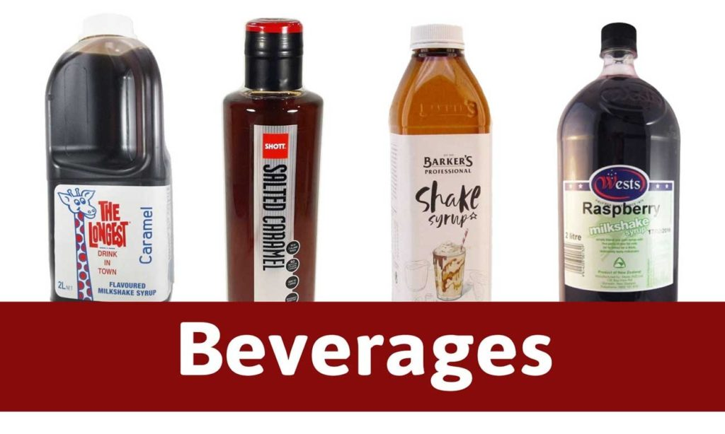 Milkshake syrups and Coffee Syrups