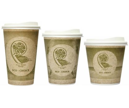 Eco-Choice Hot Cups & Lids 280ml/355ml/460ml