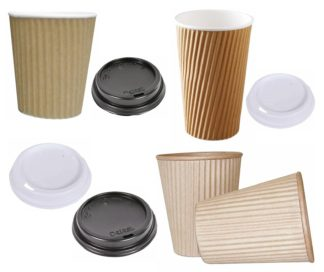 Ripple-Wrap Hot Cups & Lids 280ml/355ml/460ml