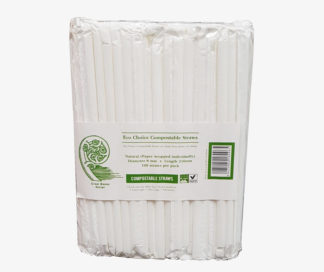 White Compostable Straws 100pk