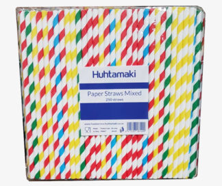 Huhtamaki Mixed Paper Straws 250pk